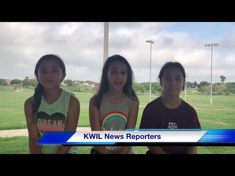 KWIL reporting with Spreading Smiles Club from Adopt-A-Park