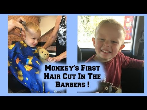 Son's First Hair Cut in The Barbers !