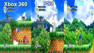 Sonic the hedgehog 4 comparison- PS3, 360, Wii
