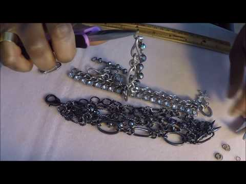 Jewelry Making Tutorial- How to make a layered chain mixed metal bracelet! DIY