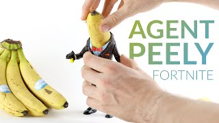 Dressing up a real banana as AGENT PEELY with clay (Fortnite Battle Royale)