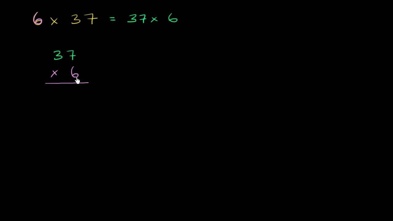 2 cifre gange 1 ciffer eksempel