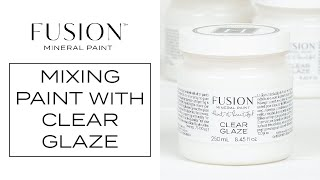 Fusion Clear Glaze - easy custom glazes in any colour