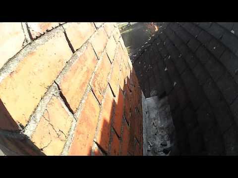 Batten copter drone - chimney survey. Whisper silent motors/blades.