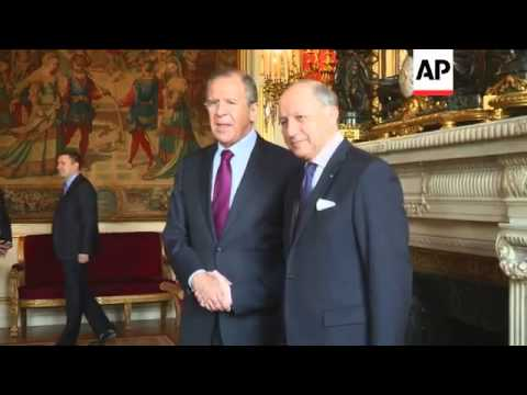 Lavrov meets French FM Fabius following talks with Kerry on Ukraine