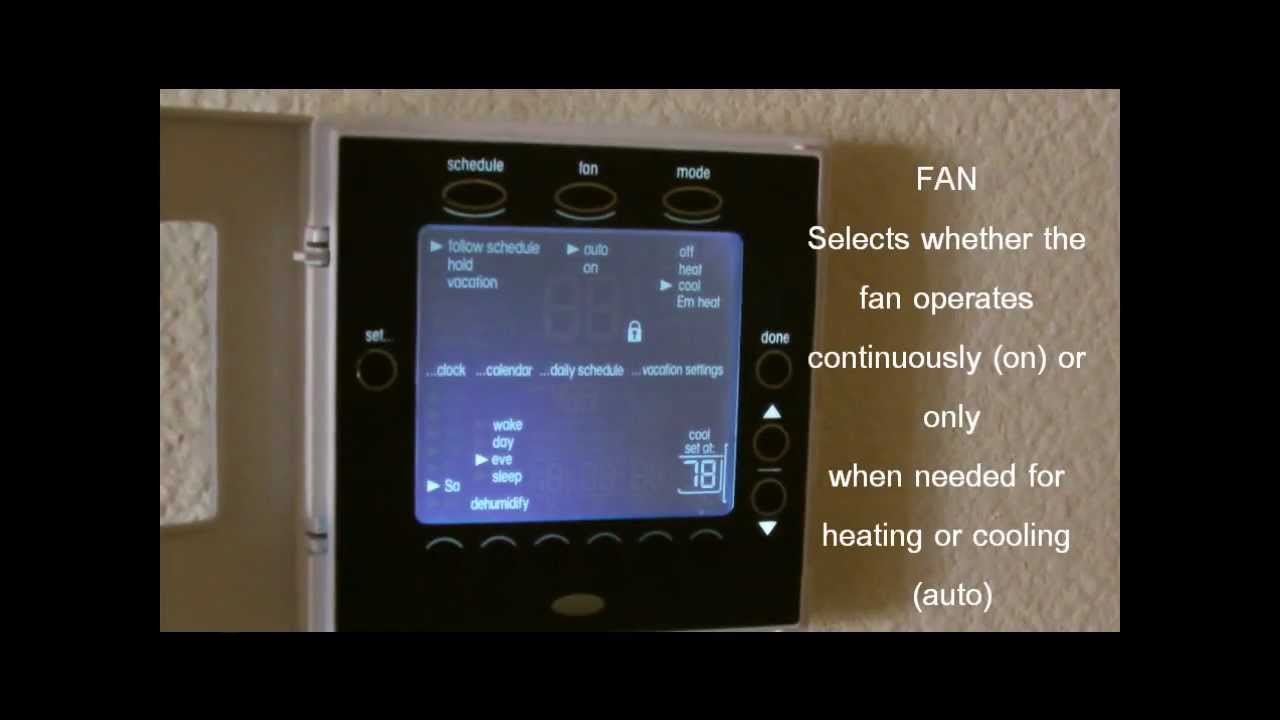 Carrier Edge Programable Thermostat On Identification