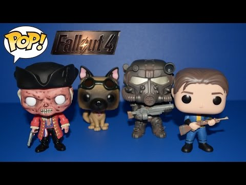 Funko Pop! Games - Fallout 4: Sole Survivor, Dogmeat, Hancock, T-60 Power Armor - 4K