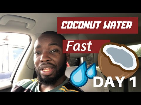 COCONUT WATER FASTING | WEIGHT LOSS FAST | VLOG | NO FOOD 🥘 🚫| DETOX DAY 1