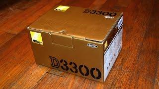Unboxing Nikon D3300 DSLR 18-55 VR II Lens Kit