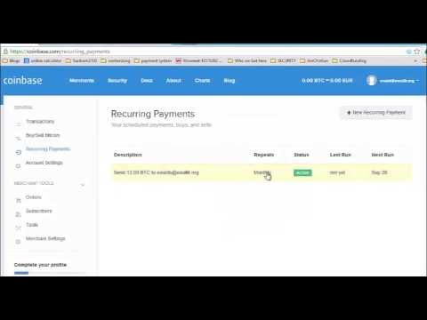 Coinbase Recurring Payments