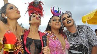 "Baixar Gloria Groove, Lexa e Preta Gil cantando ""Bumbum de Ouro"" no Bloco da Preta"