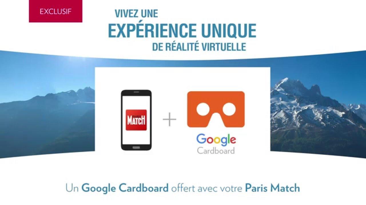 Un Google Cardboard offert avec Paris Match