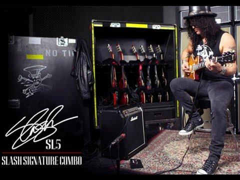 Marshall Slash Signature SL5 Amp Demo, Dunlop GCB-95 Wah Pedal & Slash MXR SF01