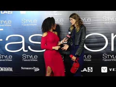Aleksandra Rastovic Interviews with Jackie Elam Live at Style Fashion Week