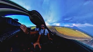Flying in the Lear to El Salvador in 360 - Theta V