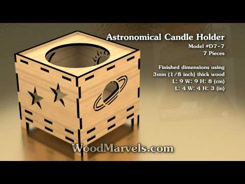 Astronomical Candle Holder: 3D Assembly Animation (1080HD)