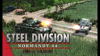 French Co-operation! Steel Division: Normandy 44 Gameplay (Merderet, 2v2)