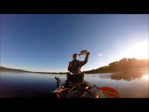 Vermont bass fishing on a 11 1/2 foot feel free Luer Kayak