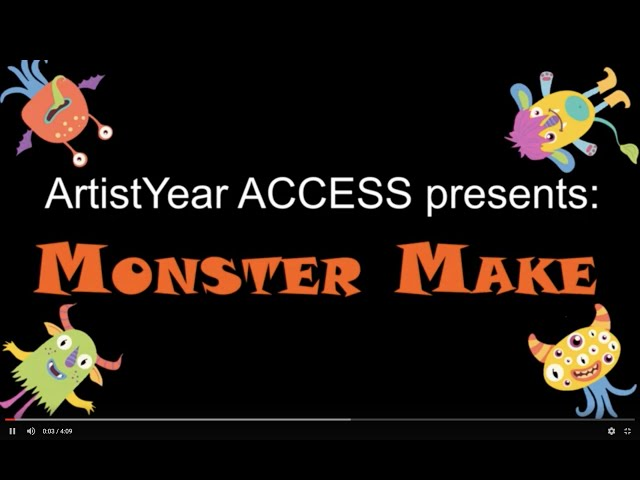 Welcome to Monster MAKE | ArtistYear Create - Kids