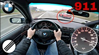 2002 BMW E39 530d TOP SPEED DRIVE ON GERMAN AUTOBAHN 🏎