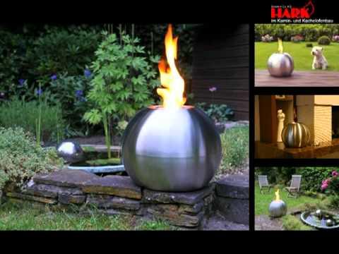 feuerkugel edelstahlkugel gartenlampe gartenleuchte kamin. Black Bedroom Furniture Sets. Home Design Ideas