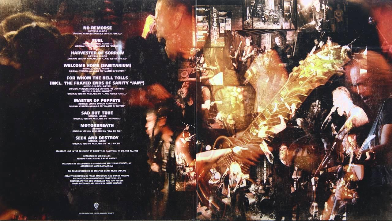 Metallica Live Grimey S Full Vinyl Lp Album 2010