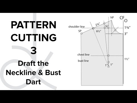 Pattern Cutting - Flat Pattern Drafting, the Bodice Block part 3