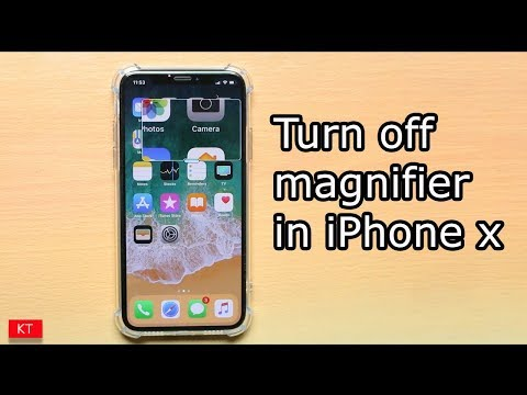 the best attitude 5462a 89db8 How to turn off magnifier on iPhone x - YouTube