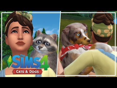NEW CATS & DOGS LET'S PLAY // The Sims 4: Wolf Pack Challenge #1