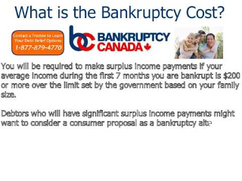 What Is The Bankruptcy Cost In Canada?