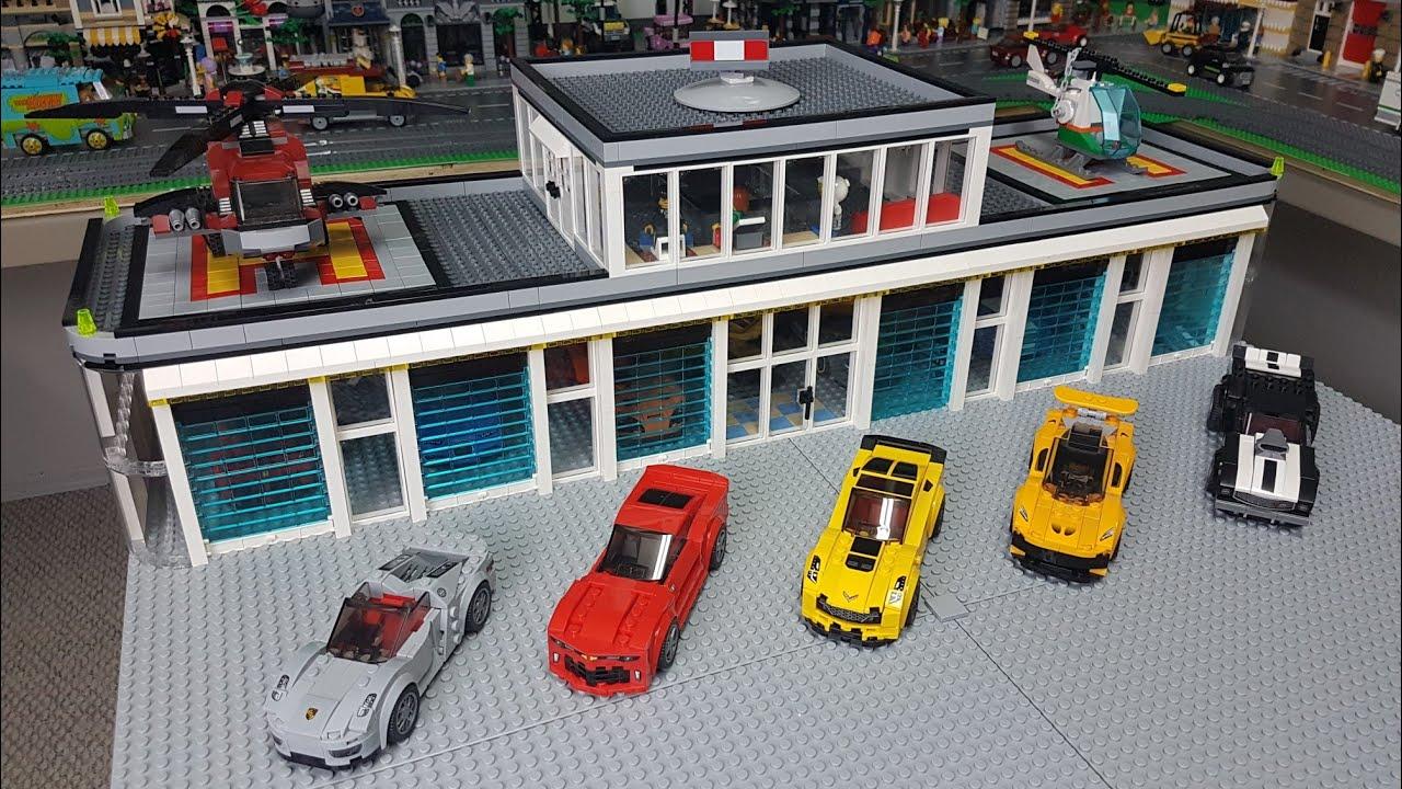 Custom LEGO Car Garage - YouTube