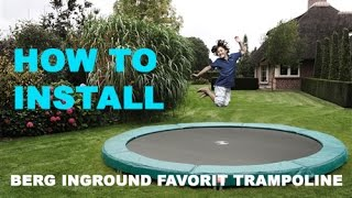 How To Install a BERG InGround Favorit Trampoline