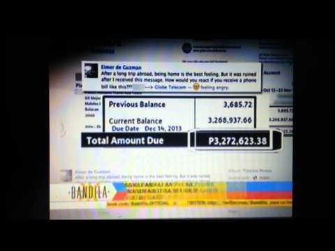 Globe telecom P3 million bill