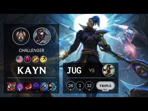 Kayn Jungle vs Nidalee - NA Challenger Patch 10.19