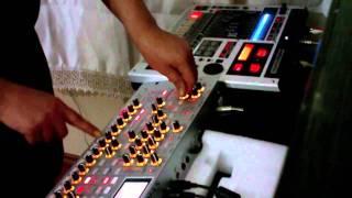 Live  Performance  with some equipment, Korg radias and Mc 808