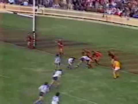 1986 Rd 19 Canterbury v North Sydney Highlights (Channel 9 News)