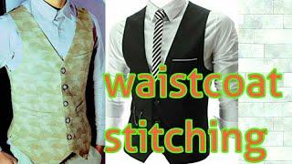v shape waistcoat stitching