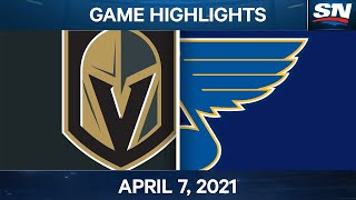 NHL Game Highlights | Golden Knights vs. Blues - Apr. 7, 2021