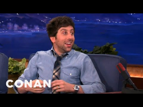 When Simon Helberg Met Stephen Hawking - CONAN on TBS