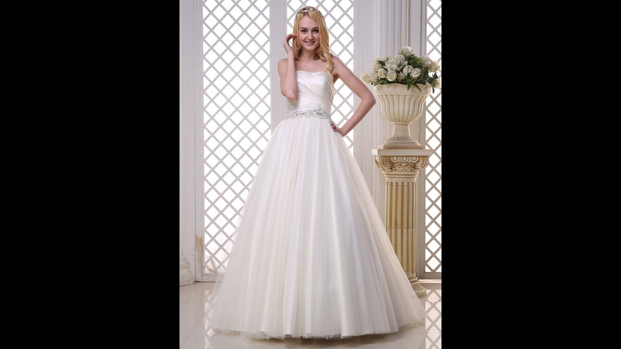 Classic White Debutante Gown - YouTube