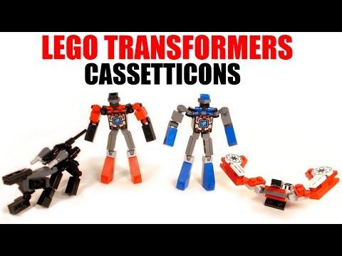 Lego Transformers - G1 Laserbeak - Ravage - Rumble - Frenzy - Review
