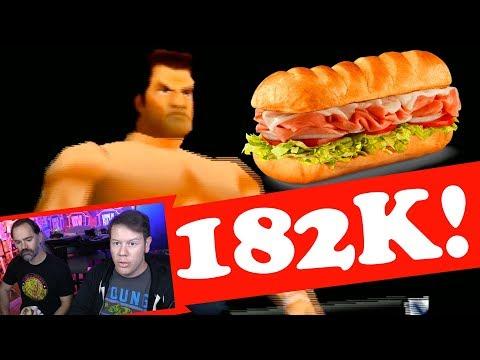 182,000 SUB SANDWICH PARTY (Virtual Pro Wrestling 64 Gameplay)