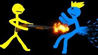 2 ВОЙНА СТИКМЕНОВ мультяшное прикольное видео   смешное безумное сражение рисованых героев