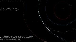 comet p 2016 ba14 panstarrs a historic close encounter online event 22 march 2016