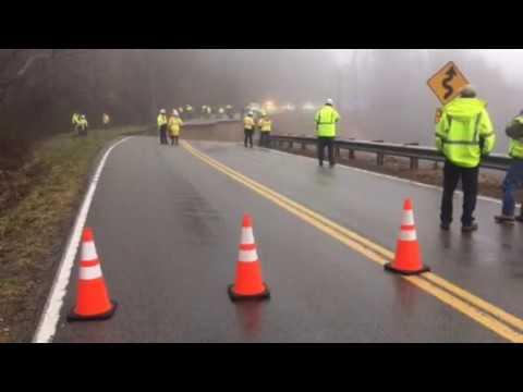 TDOT video of Highway 70 mudslide in Hawkins County