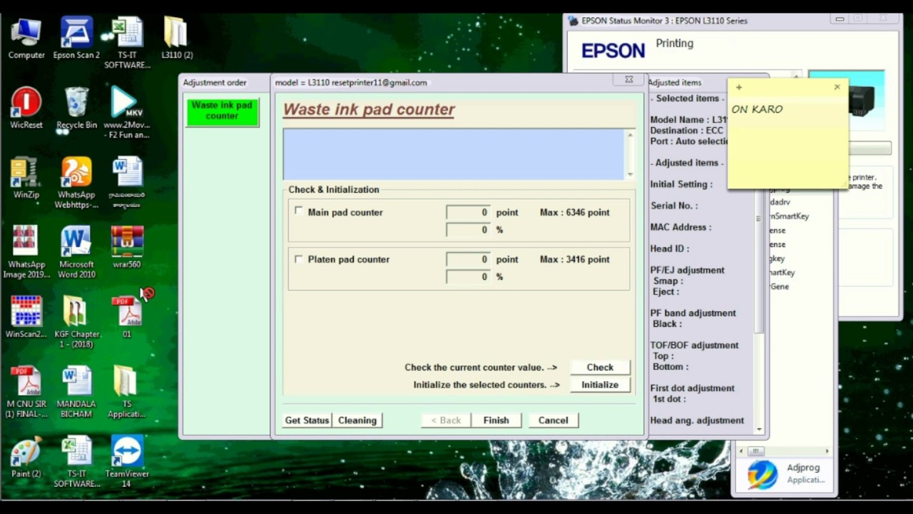 Epson L3110 Resetter   How To Reset Epson l3110   Resetter Softwareb