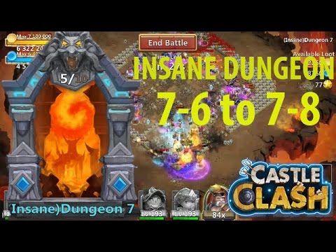Castle Clash: Insane Dungeon 7-6 To 7-8 | {id 7-6 To 7-8}