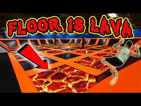 (DUNK CONTEST!) THE FLOOR IS LAVA CHALLENGE AT SKYZONE TRAMP
