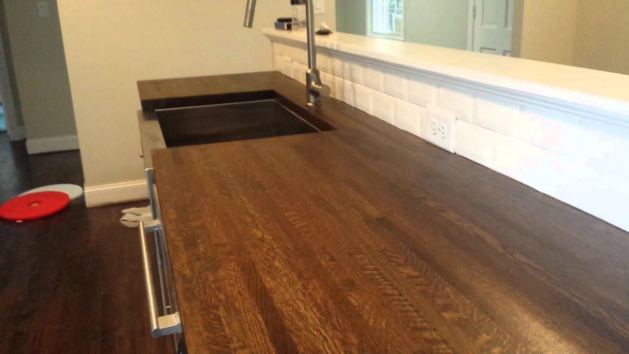 Butcher Block Countertops pt 2 Hardwood Floor Refinishing