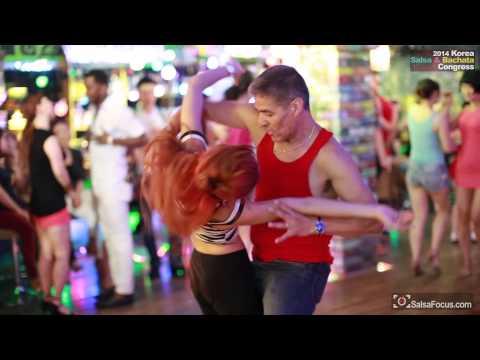 Lenny & Mio Bachata Free Dance1@ 2014 Korea salsa & Bachata congress WELCOME PAR